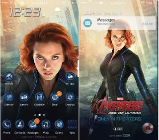 Tema Black Window Avengers untuk Samsung j2
