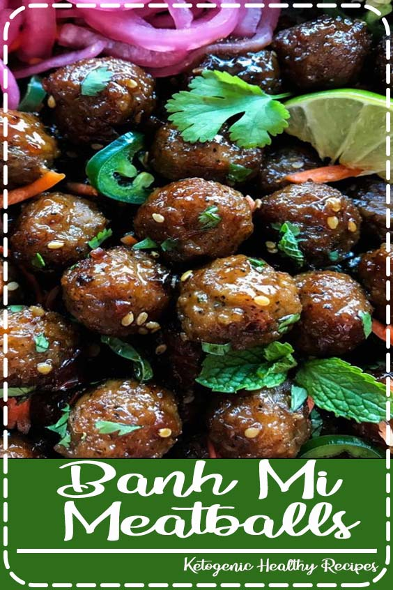 these Banh Mi Meatballs come together quickly and easily Banh Mi Meatballs