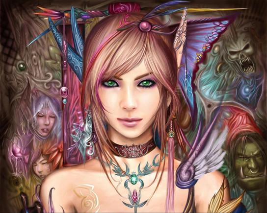 Draenei Girl Wallpaper Fadinhas Encantadas