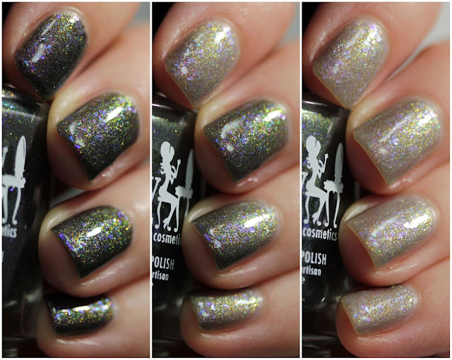 Girly Bits Black Blizzard swatch by Streets Ahead Style