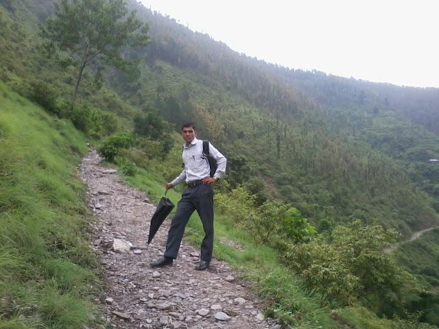 roads of rukum hills in nepal