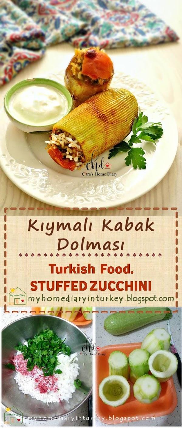 KIYMALI KABAK DOLMASI / TURKISH STUFFED ZUCCHINI   Çitra's Home Diary. #turkishfood #stuffedzucchini #stuffedpepper #mediterraneanfood #resepmasakanturtki #turkishfoodrecipe #dinnerrecipe