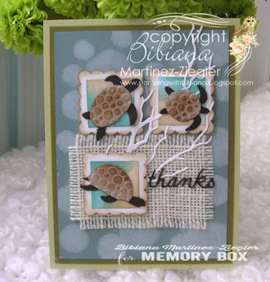 inchies with sea turtles from memory box front card