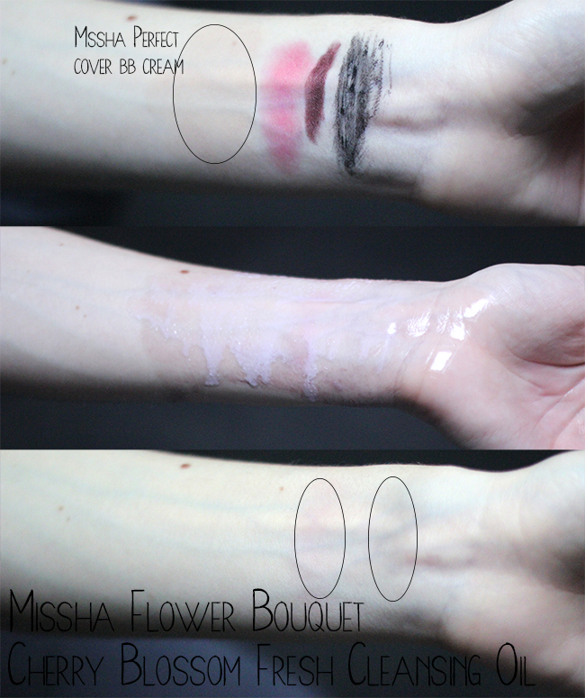 Missha Flower Bouquet Cherry Blossom Fresh Cleansing Oil review