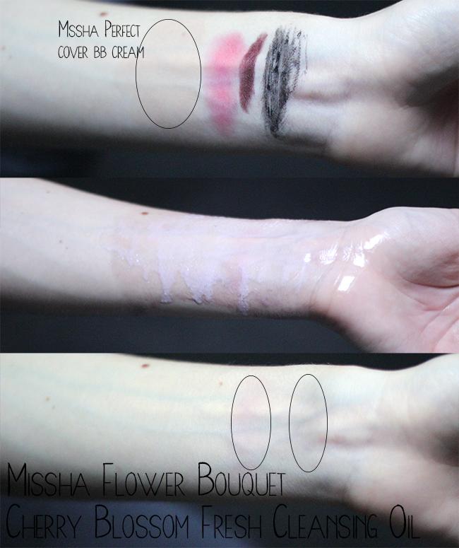 Missha Flower Bouquet Cherry Blossom Fresh Cleansing Oil review
