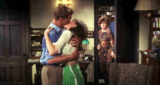 Frankie (Sarah Lawson) finally gets wise to her husband's infidelity - Night of the Big Heat, 1967