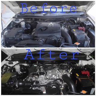 Hotworks Autospa; the best car spa in KK; SPA kereta paling best di Kota Kinabalu; Engine cleaning in Kota Kinabalu