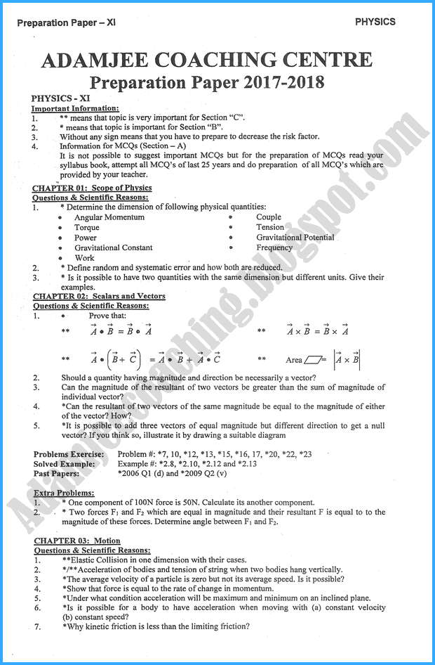 Allen Scholarship Test Sample Paper For Class 10