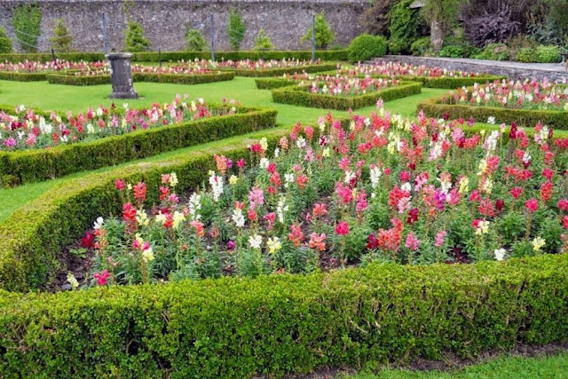 The walled garden at Strokestown Park House in County Roscommon Ireland