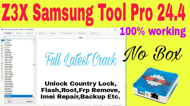 z3x samsung tool pro latest version  with crack
