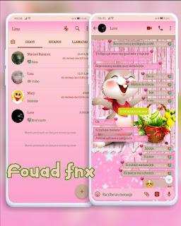Rabbit Cute Theme For YOWhatsApp & Fouad WhatsApp By angy fénix