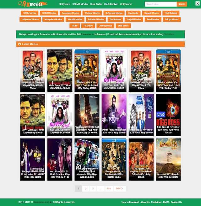 9xmovies HD 300MB Movie Download Website