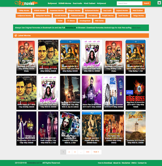 9xmovies HD 300MB Movie Download Website