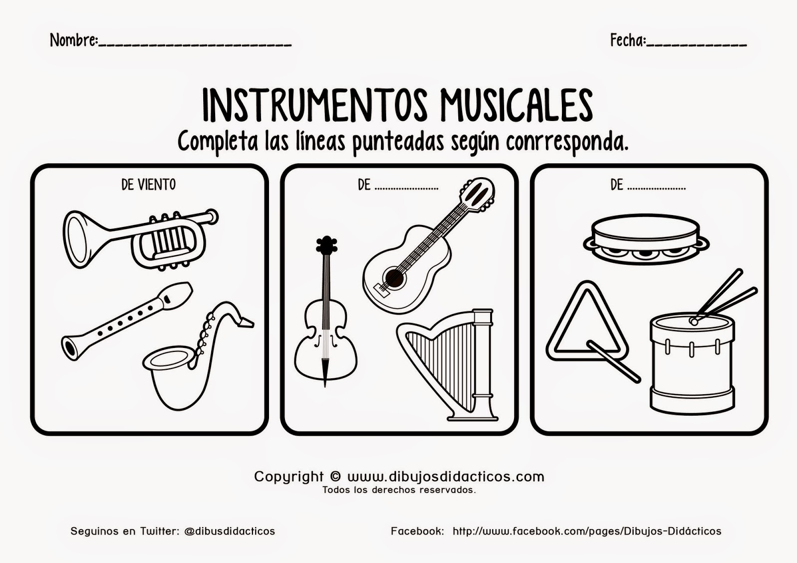 Sgblogosfera mar a jos arg eso instrumentos musicales for Tipos de familia pdf