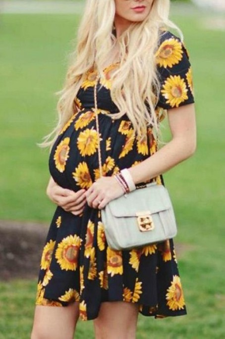 Maternity Sunflower Dress – Price: $23.99 USD