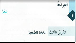 حل درس الحجر الصغير في اللغة العربية للصف الثامن