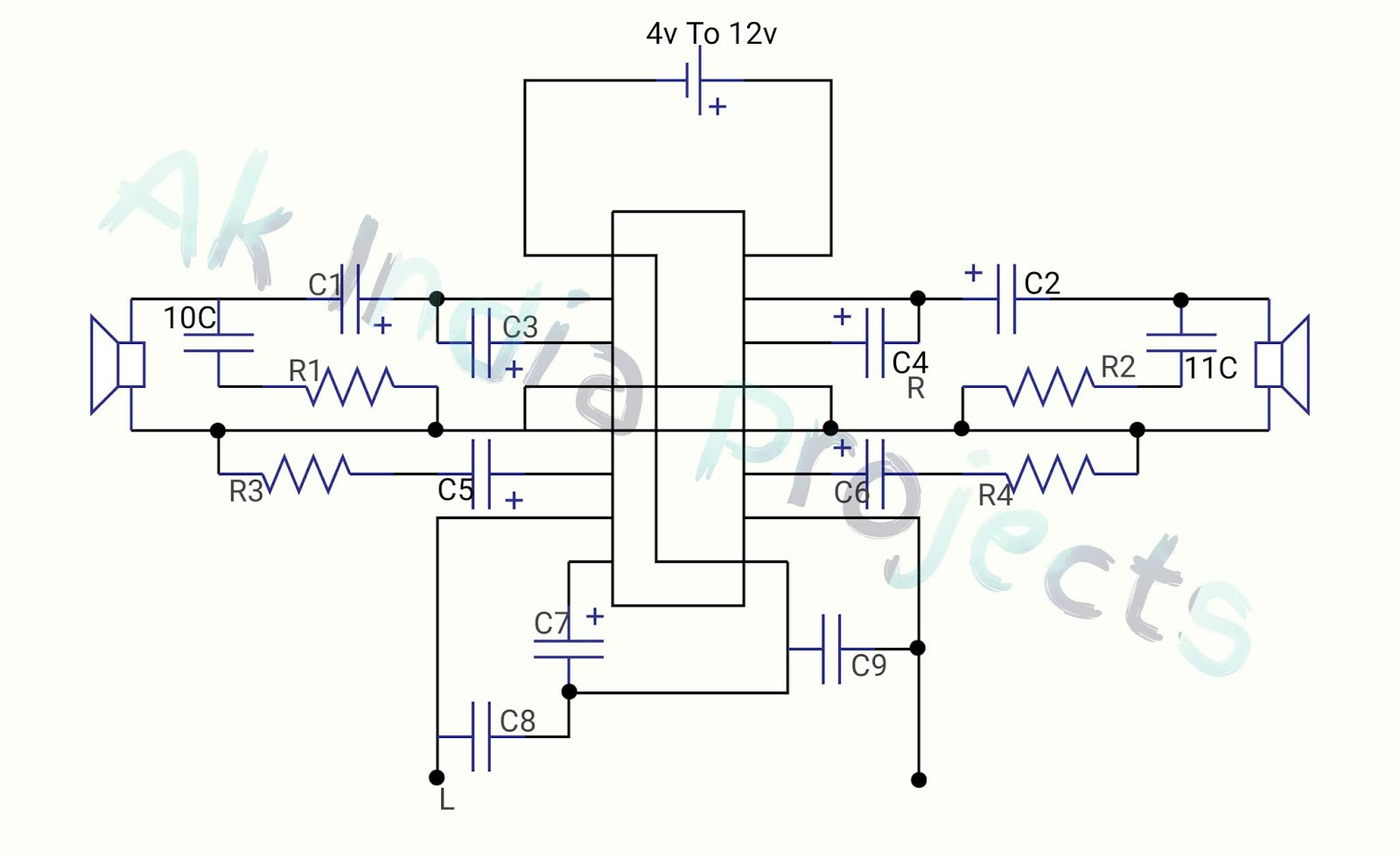 How To Make Tda2025 Stereo Amplifire Circuit