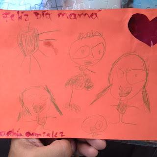 La Familia dibujda por Sophia de 5 años