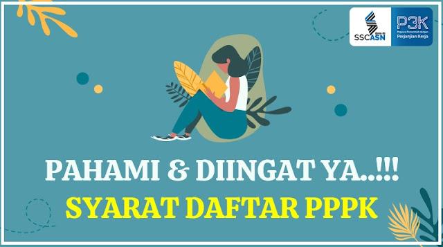 SYARAT DAFTAR PPPK 2021