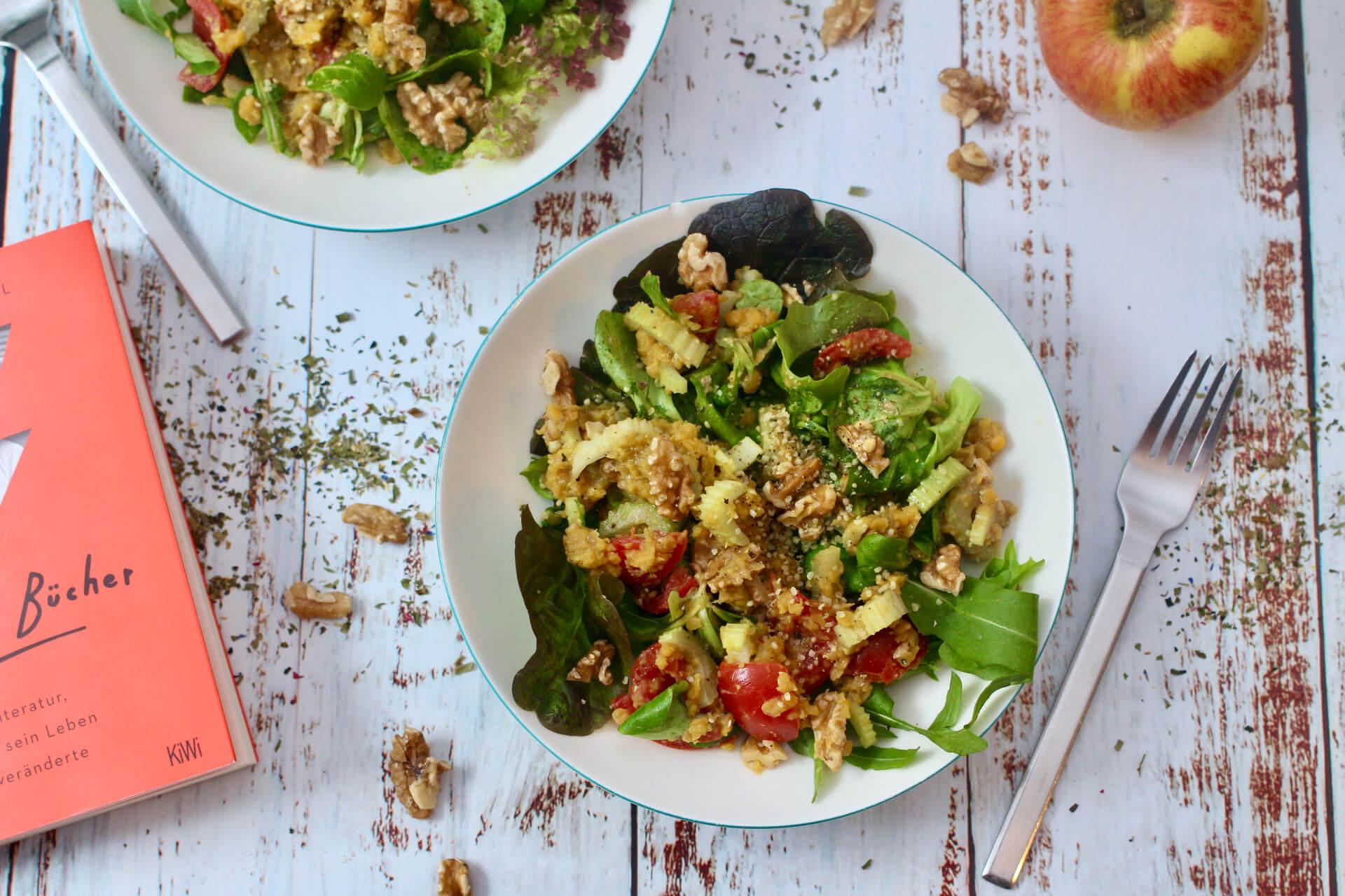 Roter Linsen-Salat