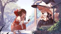 Touhou-Oriental Project-Reimu & Marisa-1080P 60FPS [Wallpaper Engine Anime]