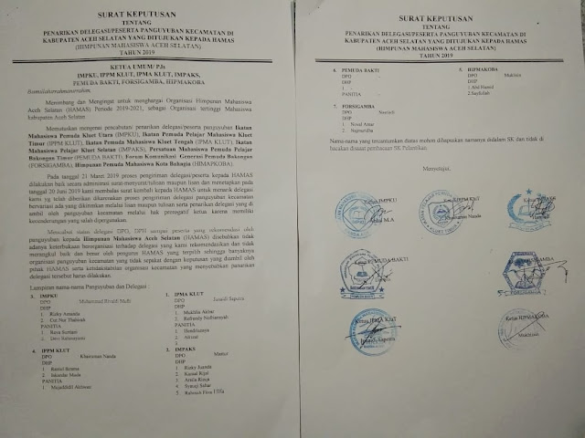 7 Paguyuban Kecamatan di Aceh Selatan Tarik Delegasi dari HAMAS