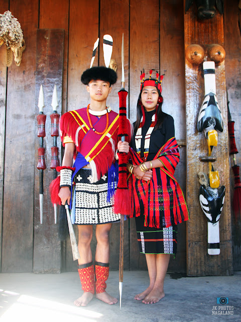 Lotha Naga Couple in Traditional Dress