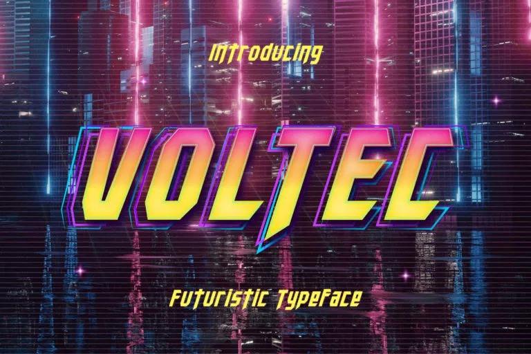 Voltec Font - Free Futuristic Display Typeface