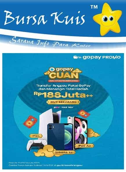 Kuis Kirim Angpao Pakai Go pay Berhadiah Iphone 12