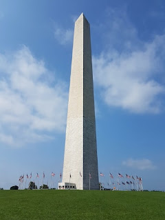 The Washington Monument is an obelisk on the National Mall in Washington