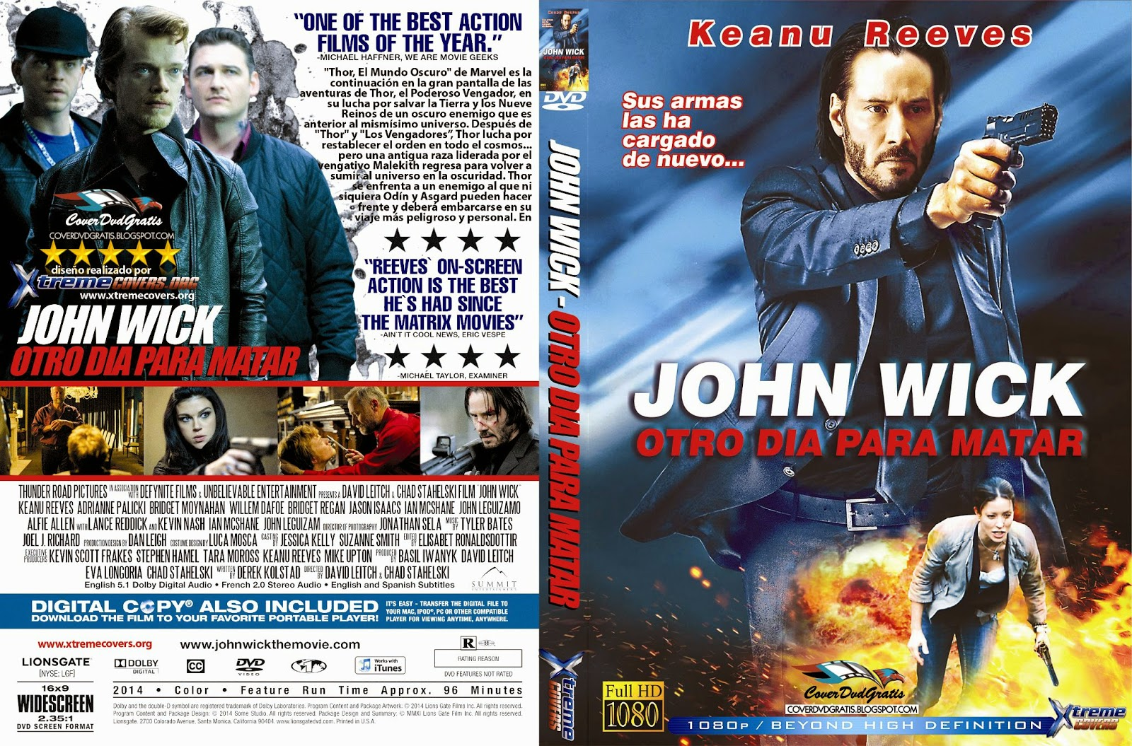 John Wick Caratula Dvd Archivos Coverdvdgratis