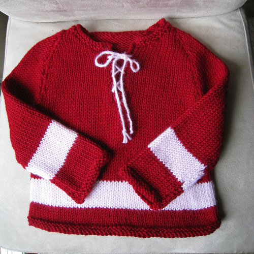 Baby Hockey Sweater - Free Pattern
