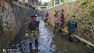 Pembersihan Sungai Cilimus, Satgas Sektor22 Sub07 Kebersamaan Kewilayahan Untuk Perubahan Prilaku