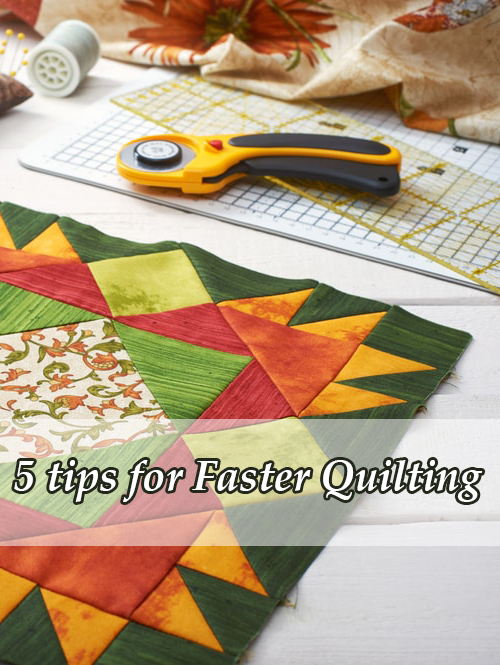 5 Quick Tips for Faster Quilting on Your Home Machine, by Christa Watson of ChristaQuilts