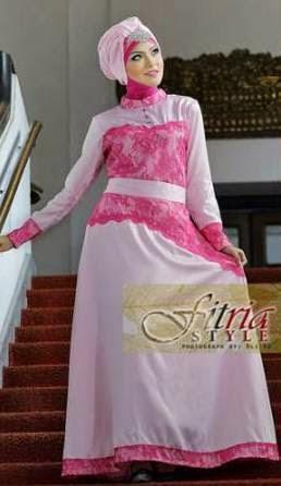 Gamis Maxi Brokat Kreasi Model Baju Muslim Terbaru