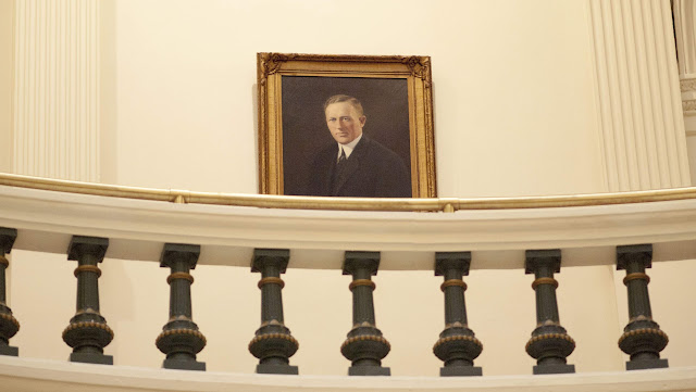 Portrait of a state politician at the Texas Capitol in Austin