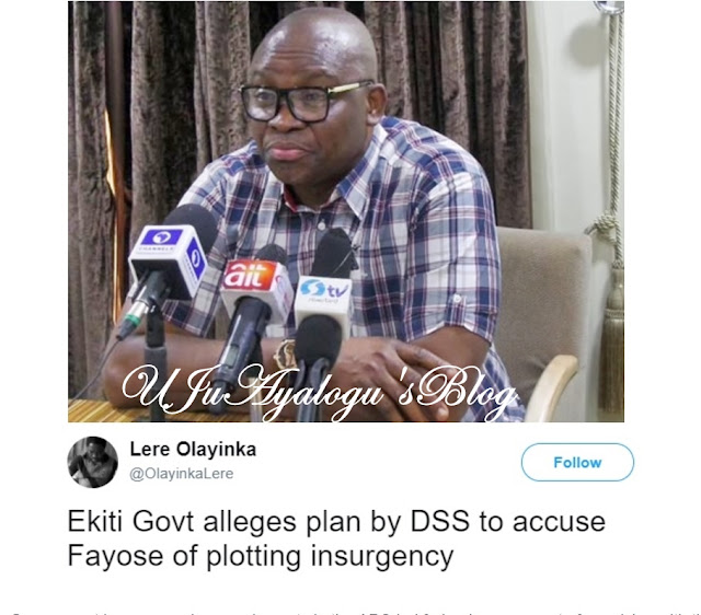 Shocking Revelation: How DSS and APC are Plotting to Arrest Governor Fayose for Treason