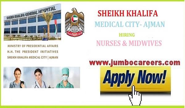 Sheikh Khalifa Hospital Ajman Nurse vacancies