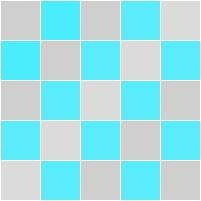 quadriculado cor azul piscina e cinza claro