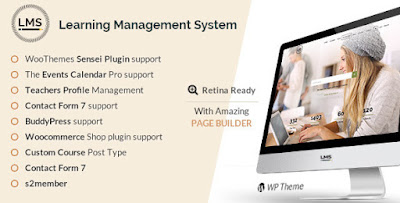 Free Download LMS v1.8 Responsive Learning Management System WP Theme