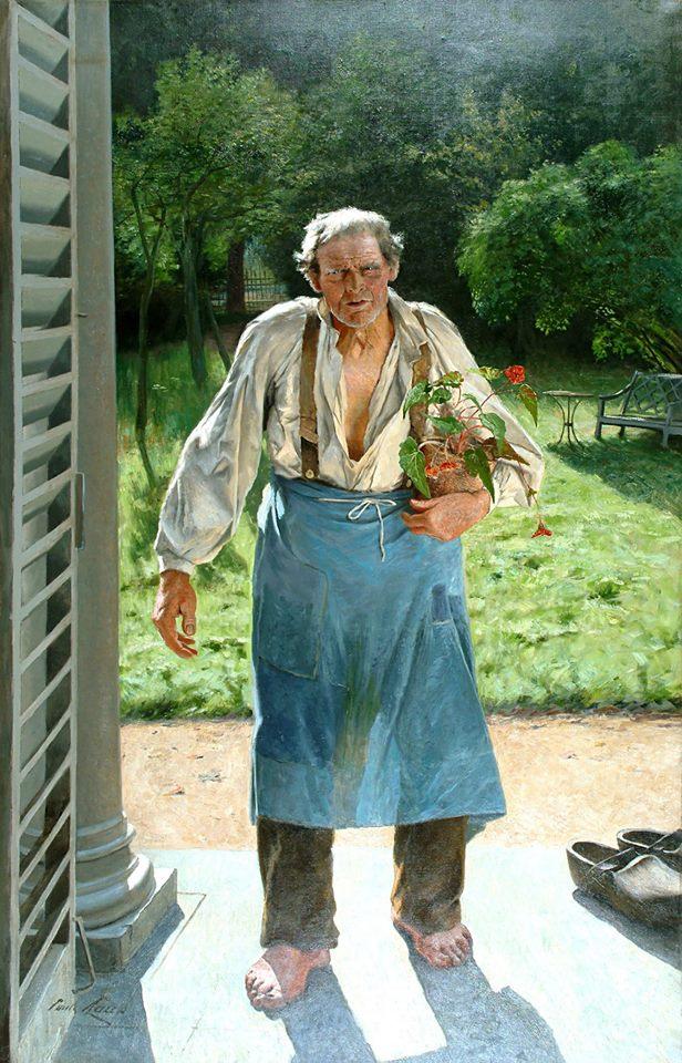 El viejo jardinero (Le vieux jardiner) - Emile Claus