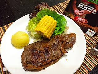 Striploin Steak With Mushroom Black Pepper Sauce