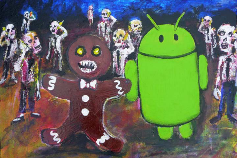 Gingerbread zombie art