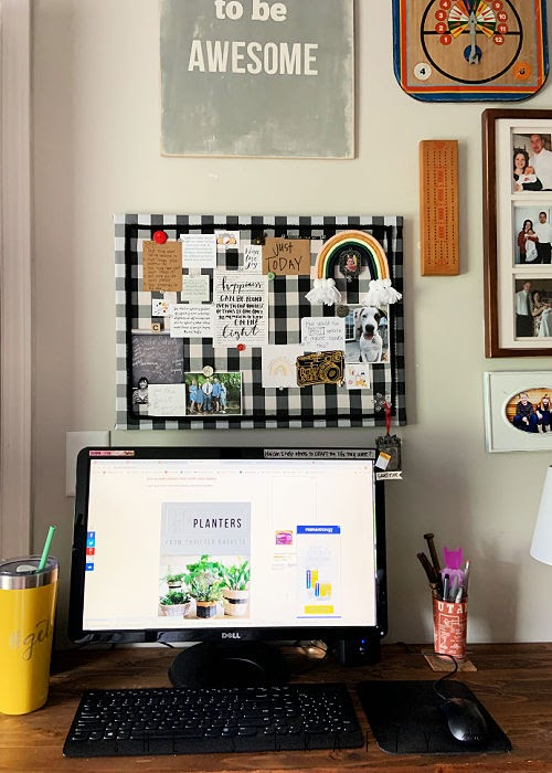 Vision Board - creative desk, goal setting, reminders, mindfulness