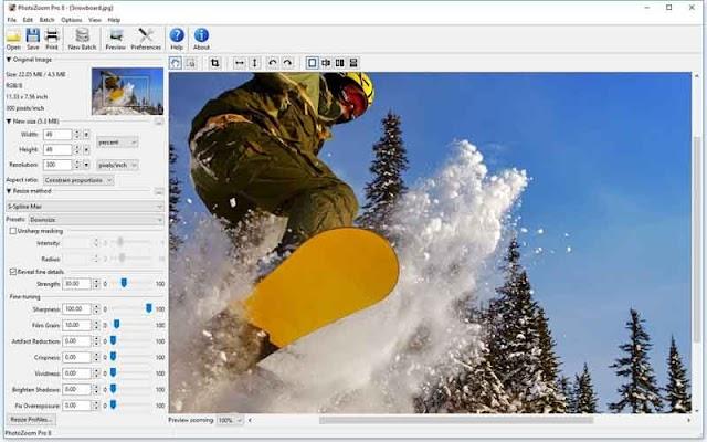 PhotoZoom Pro 8.0 F.u.l.l - Trình phóng to ảnh không làm mờ ảnh