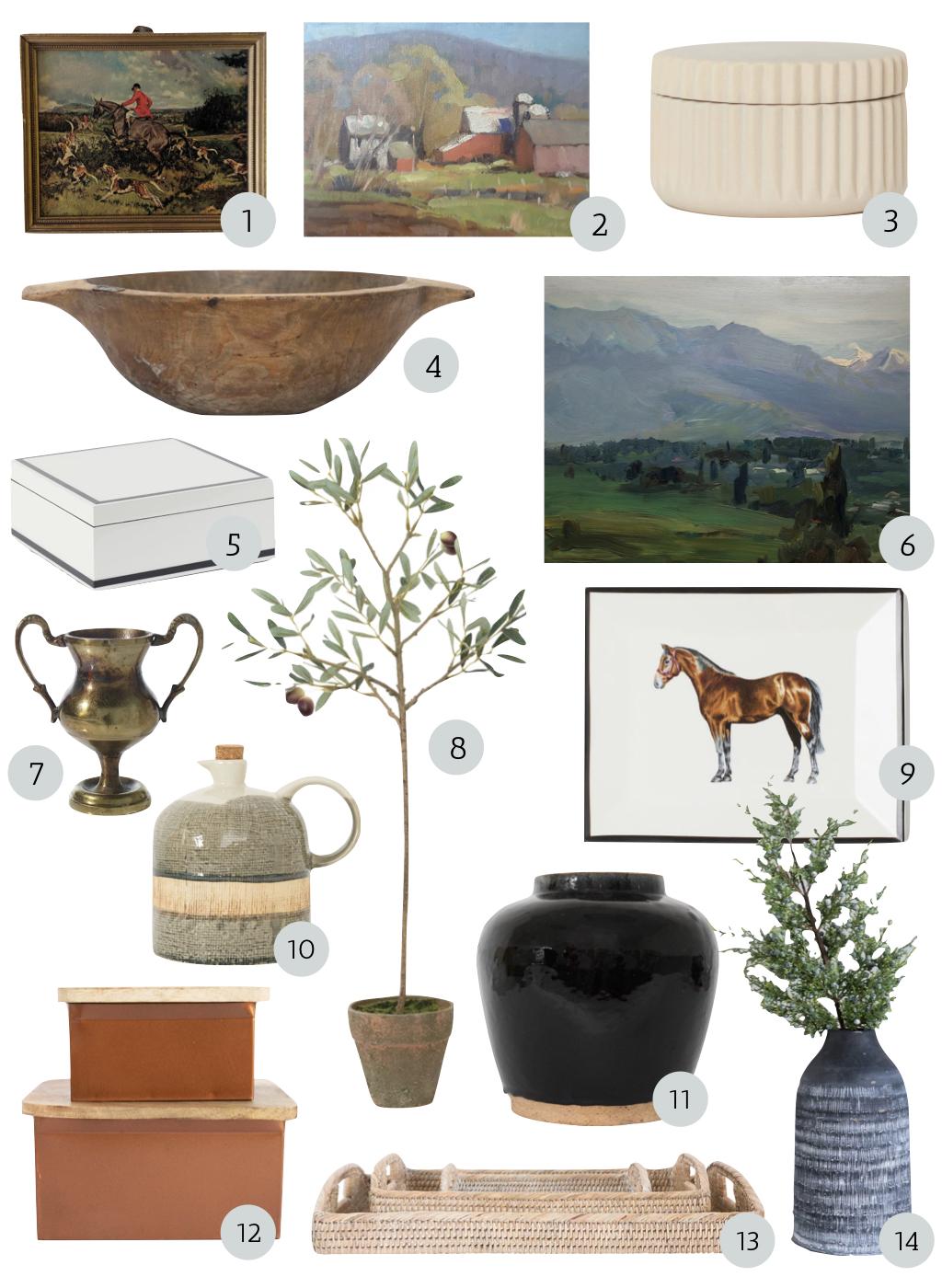 fall shelf decor, shelf objects, display objects for shelves