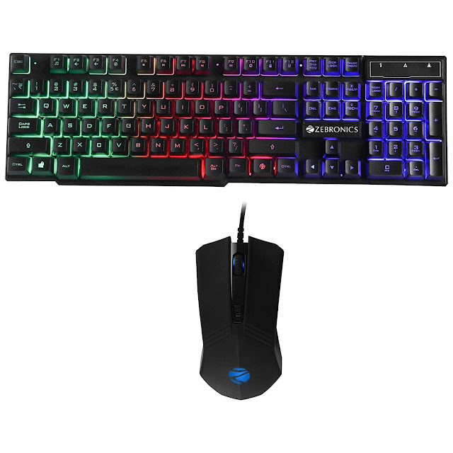 Zebronics Zeb-Fighter Gaming Keyboard and Mouse Combo