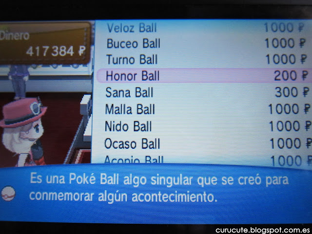 Tipos de poké ball