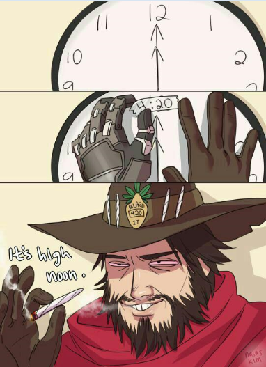 420 high noon Overwatch Stoner Comic