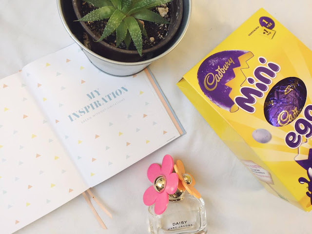 April Goals: diary quote, cactus, mini eggs and daisy perfume